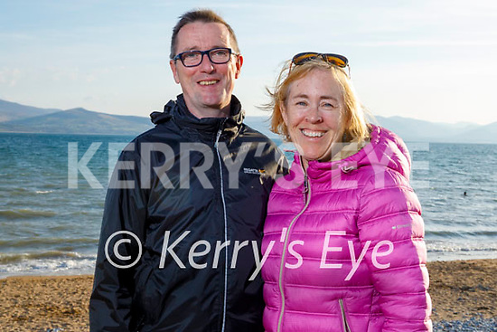 Enjoying a stroll in Fenit on Thursday, l to r: Mike and Fiona Ryle.