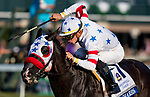 October 06 2018 : Next Shares with Tyerl Gaffalione wins the Shadwell Turf Mile States at Keeneland Racecourse on October 05, 2018 in Lexington, Kentucky. Evers/ESW/CSM