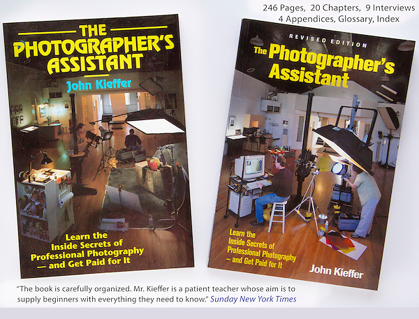 "John began his professional photography education in ernest as a photo assistant. It was so valuable, he wrote: ""The Photographer's Assistant"" twice, before and after the digital revolution.<br />