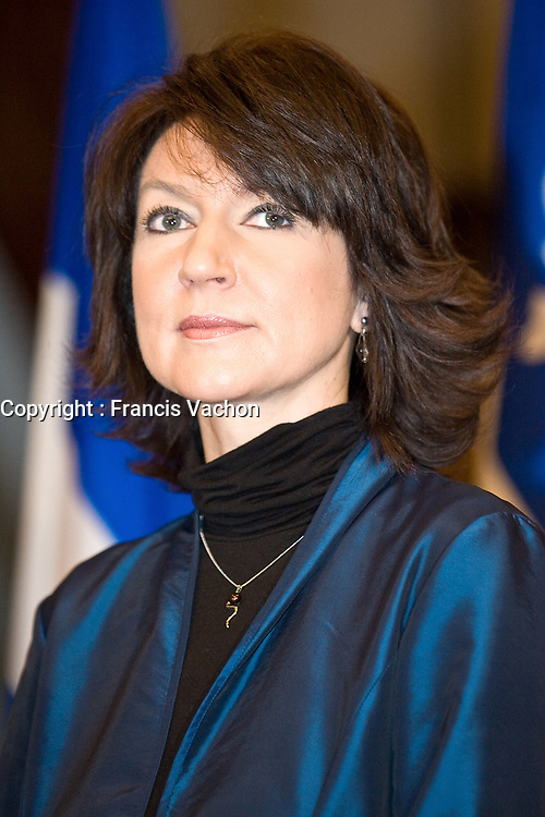Stock photo of Nathalie Normandeau, current MNA for the riding of Bonaventure in the GaspÈsie region and current Deputy Premier of the province and a member of the Quebec Liberal Party.<br /> <br /> PHOTO :  Francis Vachon - Agence Quebec Presse