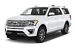 2020 Ford Expedition Limited-MAX 5 Door SUV Angular Front automotive stock photos of front three quarter view