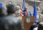Keynote Speaker Dr. Tyrus Cobb speaks the 2016 Flag Day & Army Birthday ceremony at the Capitol in Carson City, Nev., on Tuesday, June 14, 2016.<br />Photo by Cathleen Allison