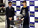 Ayami Nakajo attends opening for Japanese fashion brand GU flagship store in Yokohama