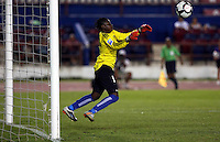 Geralda Saintillius of Haiti. The US Women's National Team defeated Haiti 5-0 during the CONCACAF Women's World Cup Qualifying tournament at Estadio Quintana Roo in Cancun, Mexico on October 28th, 2010.