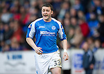 St Johnstone v Dundee.....02.01.13      SPL.Tam Scobbie.Picture by Graeme Hart..Copyright Perthshire Picture Agency.Tel: 01738 623350  Mobile: 07990 594431