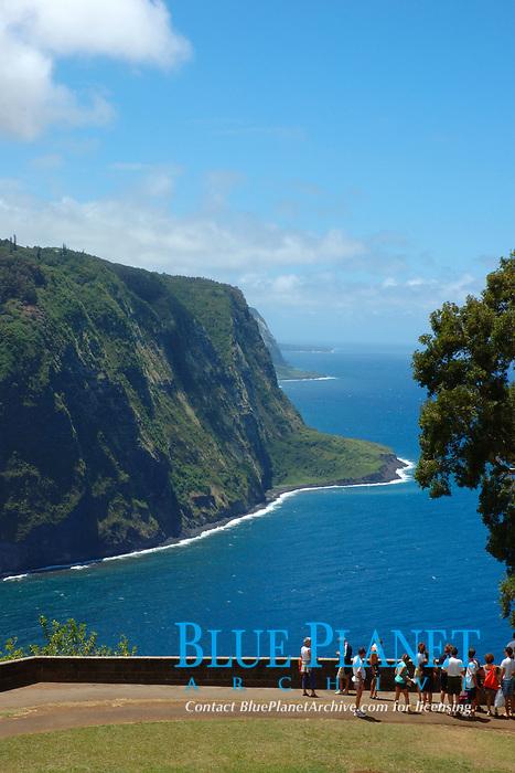 Waipio valley scenic viewpoint The Big Island of Hawaii, Pacific Ocean