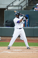 Keon Barnum (20) of the Winston-Salem Dash at bat against the Potomac Nationals at BB&T Ballpark on April 30, 2015 in Winston-Salem, North Carolina.  The Nationals defeated the Dash 5-4..  (Brian Westerholt/Four Seam Images)