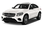 2018 Mercedes Benz GLC Coupe base 5 Door SUV angular front stock photos of front three quarter view