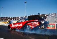 Jul 28, 2017; Sonoma, CA, USA; NHRA funny car driver Cruz Pedregon during qualifying for the Sonoma Nationals at Sonoma Raceway. Mandatory Credit: Mark J. Rebilas-USA TODAY Sports