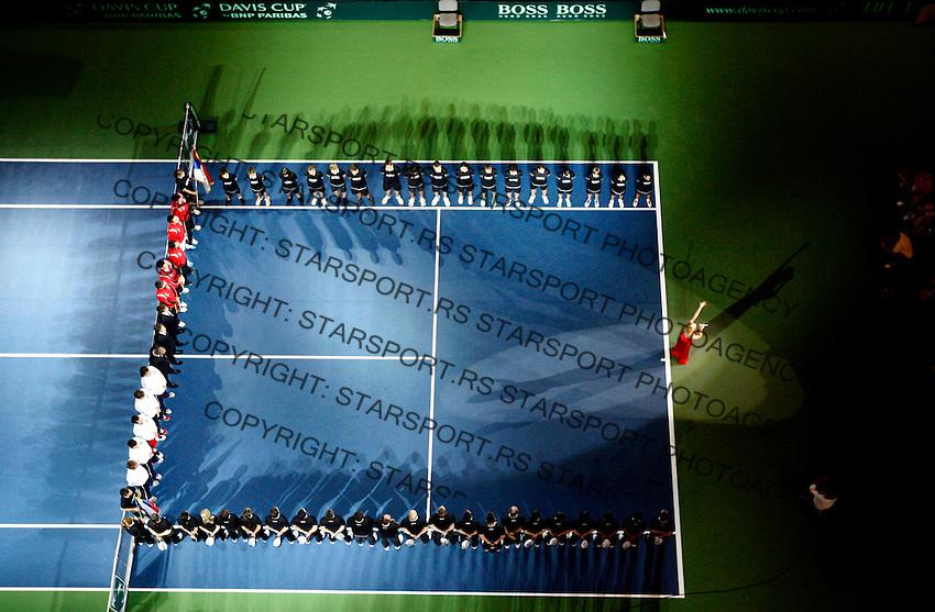 Tenis, Davis Cup 2010.Serbia Vs. Czech Republic, semifinals.Viktor Troicki Vs. Radek Stepanek.Opnening ceremony.Beograd, 17.09.2010..foto: Srdjan Stevanovic/Starsportphoto ©