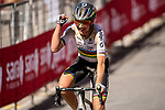 World Champion Annemiek van Vleuten (NED) Mitchelton-Scott wins the 2020 Strade Bianche Elite Women running 136km from Fortezza Medicea Siena to Piazza del Campo Siena, Italy. 1st August 2020.<br /> Picture: LaPresse/Marco Alpozzi | Cyclefile<br /> <br /> All photos usage must carry mandatory copyright credit (© Cyclefile | LaPresse/Marco Alpozzi)