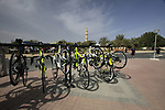 Farnese Vini-Selle Italia Cipollini bikes lined up before the start of the 3rd Stage of the 2012 Tour of Qatar running 146.5km from Dukhan Souq, Dukhan to Al Gharafa, Qatar. 7th February 2012.<br /> (Photo Eoin Clarke/Newsfile)