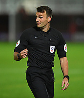 Referee Dan Speedie<br /> <br /> Photographer Dave Howarth/CameraSport<br /> <br /> EFL Trophy Northern Section Group G - Accrington Stanley v Blackpool - Tuesday 6th October 2020 - Crown Ground - Accrington<br />  <br /> World Copyright © 2020 CameraSport. All rights reserved. 43 Linden Ave. Countesthorpe. Leicester. England. LE8 5PG - Tel: +44 (0) 116 277 4147 - admin@camerasport.com - www.camerasport.com