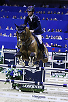 OMAHA, NEBRASKA - MAR 30: Denis Lynch rides All Star during the FEI World Cup Jumping Final I at the CenturyLink Center on March 30, 2017 in Omaha, Nebraska. (Photo by Taylor Pence/Eclipse Sportswire/Getty Images)