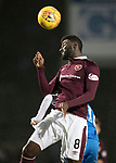 St Johnstone v Hearts…23.12.17…  McDiarmid Park…  SPFL<br />Prince Buaben and Stefan Scougall<br />Picture by Graeme Hart. <br />Copyright Perthshire Picture Agency<br />Tel: 01738 623350  Mobile: 07990 594431