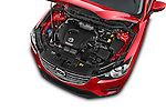 Car Stock2016 Mazda CX5 Premium Edition 5 Door SUV Engine high angle detail view