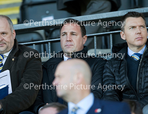 St Johnstone v Celtic…04.11.17…  McDiarmid Park…  SPFL<br />Malky MacKay waqtches the game<br />Picture by Graeme Hart. <br />Copyright Perthshire Picture Agency<br />Tel: 01738 623350  Mobile: 07990 594431