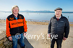 Enjoying a stroll in Ballyheigue on Sunday, l to r: Michael Leane and Jimmy Browne.