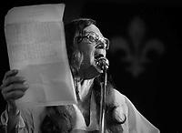 FILE PHOTO - Raoul Duguay en 1980<br /> <br /> PHOTO :  Andre Boucher - Agence quebec Presse<br /> <br /> HI RES Sur demande - aucune restriction