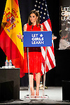 """Queen Letizia of Spain during the speech of """"Let Girls Learn"""" at Matadero in Madrid. June 30. 2016. (ALTERPHOTOS/Borja B.Hojas)"""