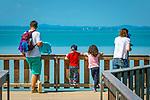 Deutschland, Bayern, Chiemgau, Stoettham bei Chieming: Aussichtsplatform auf den Chiemsee | Germany, Bavaria, Chiemgau, Stoettham near Chieming: viewing platform at lake Chiemsee