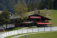 Sportalm mit dem Media Cafe am Trainingsgelände - Seefeld 25.05.2021: Trainingslager der Deutschen Nationalmannschaft zur EM-Vorbereitung