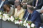 Ana Botella, Mayor of Madrid City, Queen Sofia of Spain; Ignacio Gonzalez, President of Madrid Region and Tennis Legend Ion Tiriac during Madrid Open Tennis 2015 Final match.May, 10, 2015.(ALTERPHOTOS/Acero)