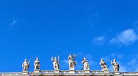 Veduta delle statue di Piazza San Pietro, durante un'udienza giubilare di Papa Francesco, Citta' del Vaticano, 12 novembre 2016.<br /> A picture of Saint Peters Basilica statues during the Pope Francis' Jubilee Audience at the Vatican, November 12, 2016.<br /> UPDATE IMAGES PRESS/Isabella Bonotto<br /> <br /> STRICTLY ONLY FOR EDITORIAL USE