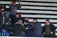 Sunderland's Owner Kyril Louis-Dreyfus applauds his team off the field at the end of the game  during Peterborough United vs Sunderland AFC, Sky Bet EFL League 1 Football at London Road on 5th April 2021