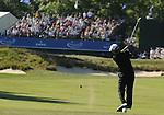 1 September 2008: Mike Weir hits an approach shot at the Deutsche Bank Golf Championship in Norton, Massachusetts.