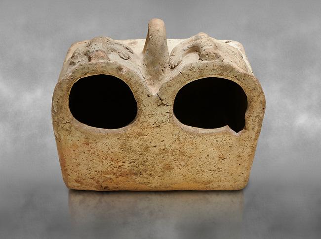 Bronze Age Anatolian terra cotta double boxes for storage - 19th to 17th century BC - Kültepe Kanesh - Museum of Anatolian Civilisations, Ankara, Turkey.