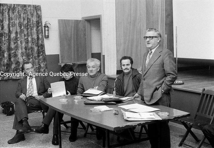 Daniel Lewis, Chef du NPD, le 25 janvier 1973<br /> <br /> PHOTO : Agence Quebec Presse - Alain Renaud