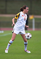 Megan Gibbons (16) of Maryland controls the ball at Ludwig Field on the campus of the University of Maryland in College Park, MD. DC. Duke defeated Maryland, 2-1.