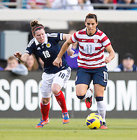 Ali Krieger, Emma Mitchell.  The USWNT defeated Scotland, 4-1, during a friendly at EverBank Field in Jacksonville, Florida.