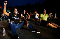 Members of the community take part in a protest for Antwon Rose, the 17-year old who was shot and killed by East Pittsburgh police. (Photo by Jared Wickerham/For Pittsburgh Current)