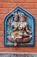 Nepal, Kathmandu.  Shiva and Parvati, in a Temple Dedicated to Ganesh.
