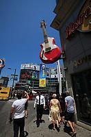 Toronto (ON) CANADA - July 2012 - Hard Rock cafe  on Dundas square beside  EATON CENTRE