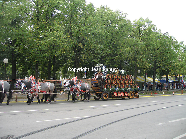Beer wagon at Oktoberfest - Munich, Germany