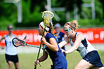 BERLIN, GERMANY - JUNE 21: Match of Team USA AI (navy blue) vs LCC Radotin (white) during the Berlin Open Lacrosse Tournament 2013 at Stadion Lichterfelde on June 21, 2013 in Berlin, Germany. (Photo by Dirk Markgraf/www.265-images.com)
