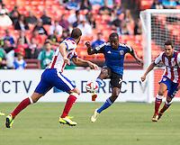 San Francisco, California - Sunday, July 27, 2014: Atletico Madrid and San Jose Earthquakes during a Copa Euroamericana match at Candlestick Park.