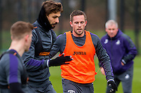 Tuesday 17 January 2017<br /> Pictured: Gylfi Sigurdsson of Swansea City in action during training <br /> Re:Swansea City training session at the Fairwood Training ground, Fairwood, Swansea, Wales, UK