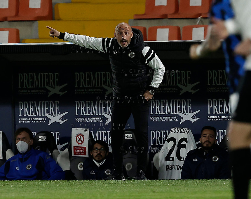 Vincenzo Italiano  during the  italian serie a soccer match,Spezia Inter Milan at  the STadio Picco in La Spezia Italy ,