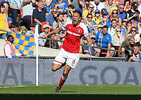 27th May 2018, Wembley Stadium, London, England;  EFL League 1 football, playoff final, Richard Wood of Rotherham United celebrates scoring his sides 2nd goal in the 103rd minute to make it 2-1 in the 1st half of Extra Time
