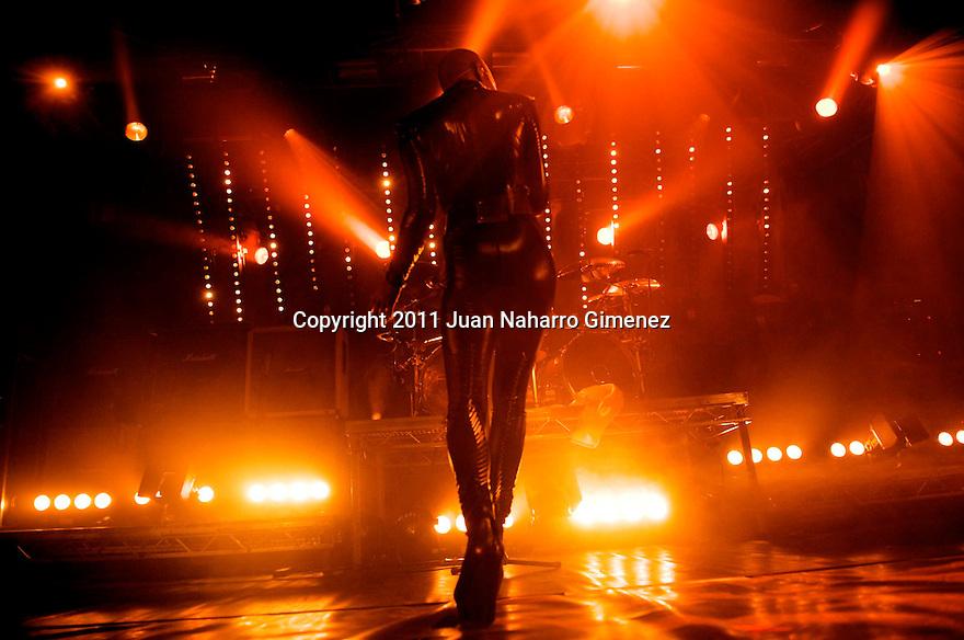MADRID, SPAIN - FEBRUARY 09: Skin of Skunk Anansie performs on stage at La Riviera on February 9, 2011 in Madrid, Spain. (Photo by Juan Naharro Gimenez)