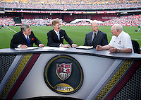 Bob Ley, Alexi Lalas, Kasey Keller, Walter Bahr.  The USMNT defeated Germany, 4-3, in a friendly match held at RFK Stadium in Washington, DC.