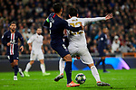Francisco Alarcon 'Isco' of Real Madrid and Thiago Silva of Paris Saint-Germain FC during UEFA Champions League match between Real Madrid and Paris Saint-Germain FC at Santiago Bernabeu Stadium in Madrid, Spain. November 26, 2019. (ALTERPHOTOS/A. Perez Meca)
