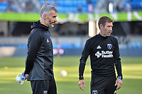 San Jose, CA - Wednesday June 28, 2017: Alex Covelo, Steve Ralston prior to a U.S. Open Cup Round of 16 match between the San Jose Earthquakes and the Seattle Sounders FC at Avaya Stadium.