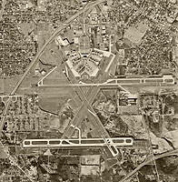 historical aerial photograph of Hartsfield–Jackson Atlanta International Airport (ATL), Atlanta, Georgia, 1968