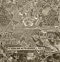 historical aerial photograph of Hartsfield–Jackson Atlanta International Airport (ATL), Atlanta, Georgia, 1968