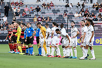 10th February 2021; Bankwest Stadium, Parramatta, New South Wales, Australia; A League Football, Western Sydney Wanderers versus Melbourne Victory; the teams line up before kick off